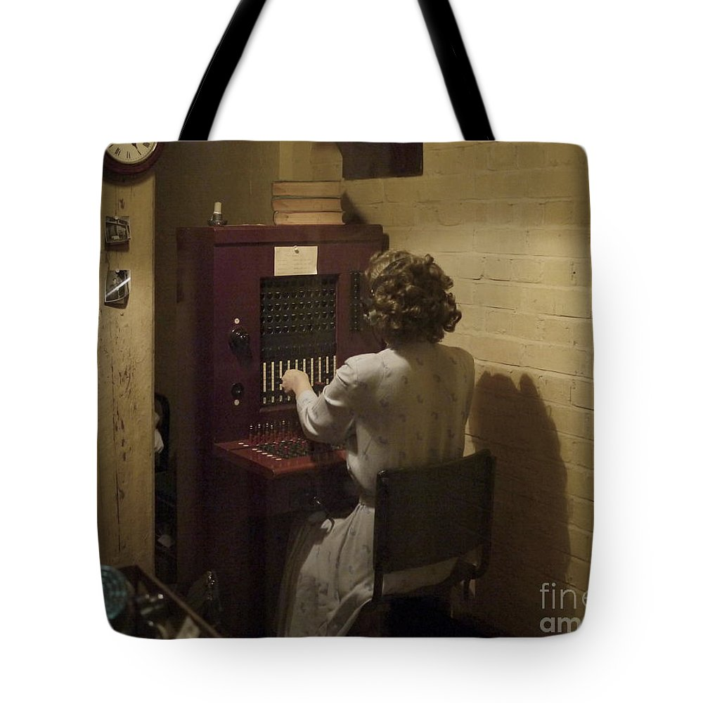Telephone Tote Bag featuring the photograph Telephone Operator by John Chatterley