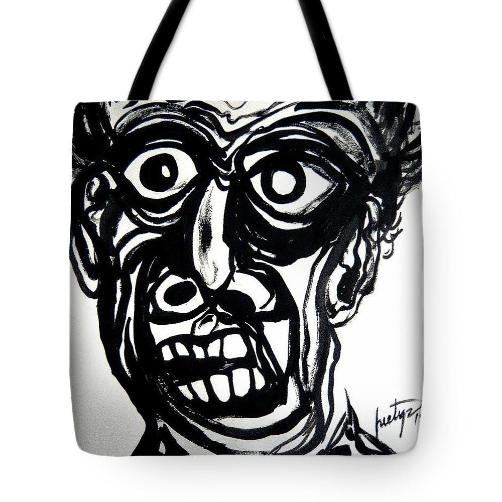 Temper Tote Bag featuring the painting Temperiment by Piety Dsilva