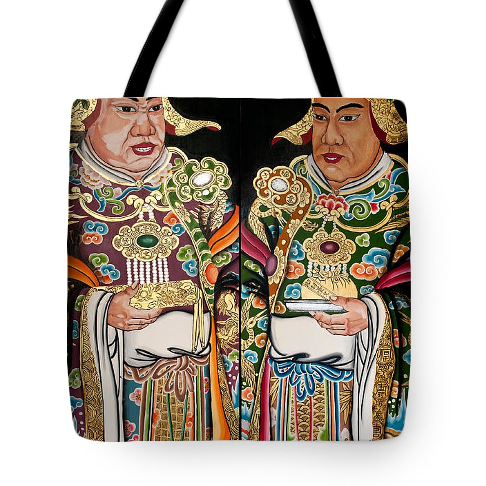 Bright Tote Bag featuring the photograph Temple Doors 01 by Rick Piper Photography