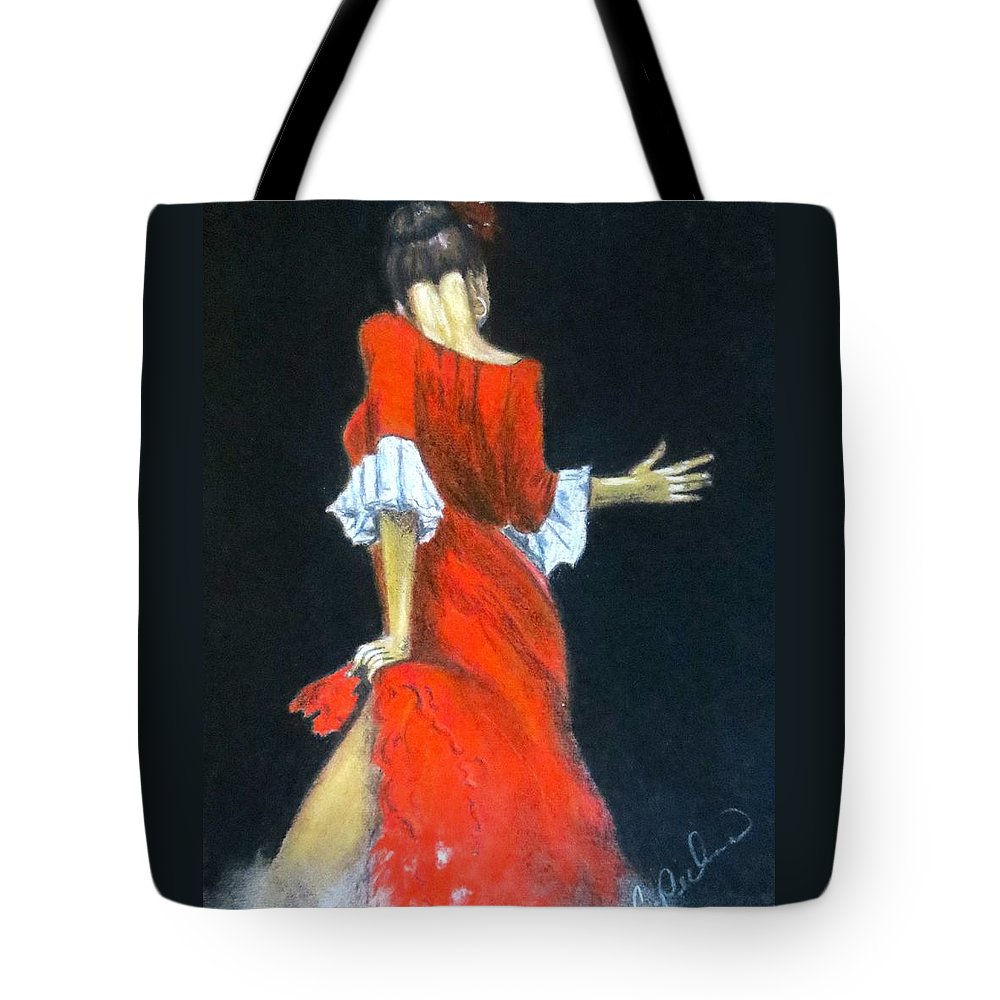 Female Tote Bag featuring the painting Tempted Again by C Pichura