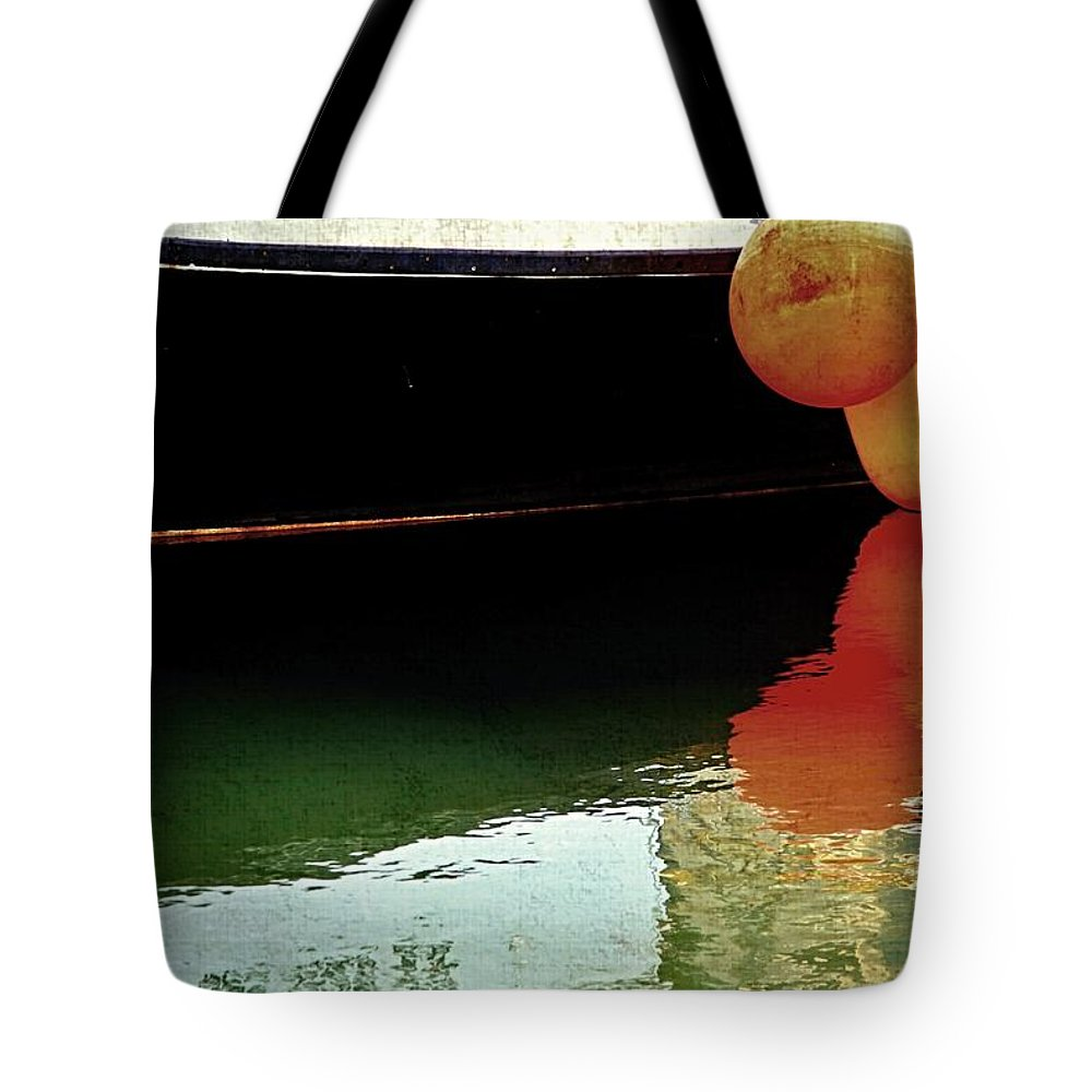 Marine Photo Tote Bag featuring the photograph Harbor Boat Scene The Tenders by Marysue Ryan