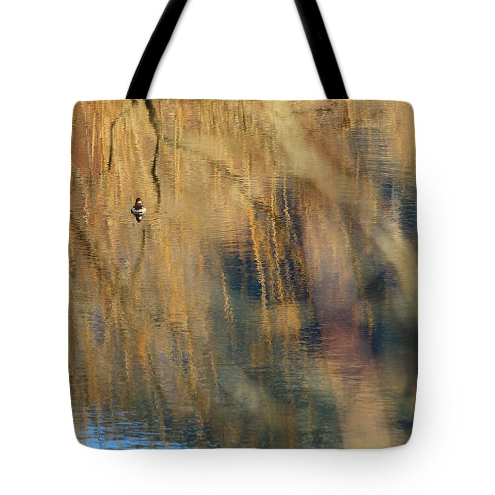 Duck Tote Bag featuring the photograph Floating In The Abstract 1 by Michelle Twohig