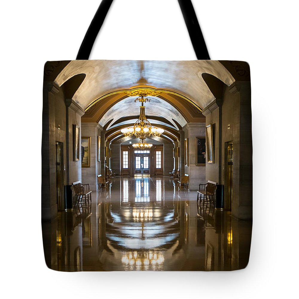 Nashville Tote Bag featuring the photograph Hallways by Glenn DiPaola