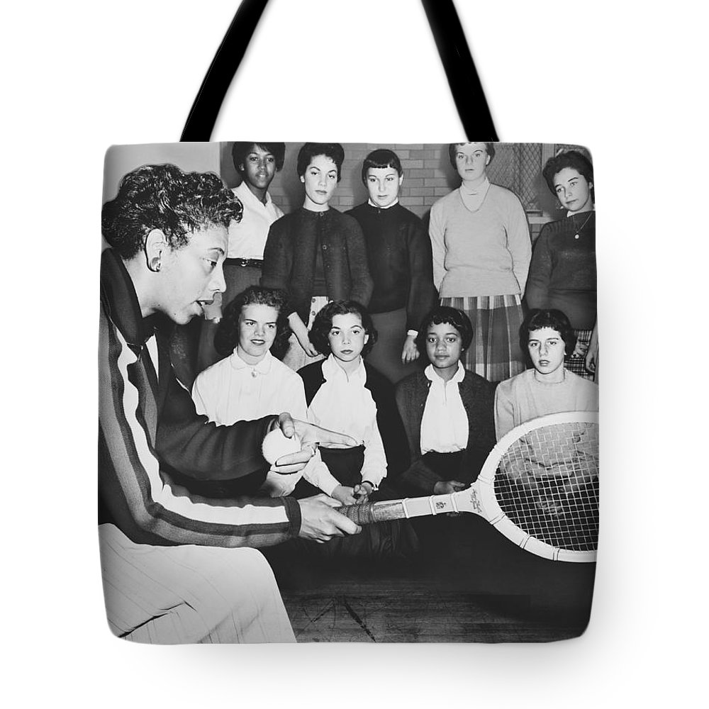1950s Tote Bag featuring the photograph Tennis Star Althea Gibson by Ed Ford