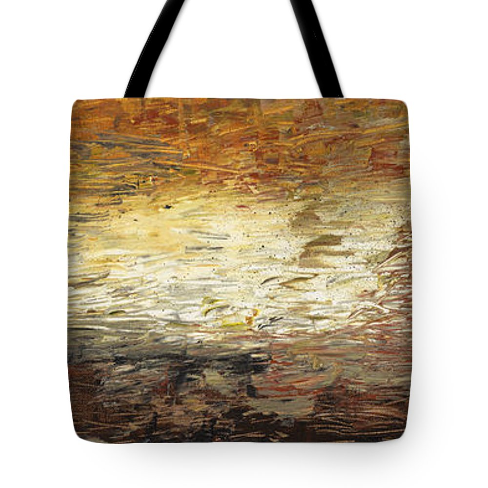 Terra Tote Bag featuring the painting Terra by Nadine Rippelmeyer