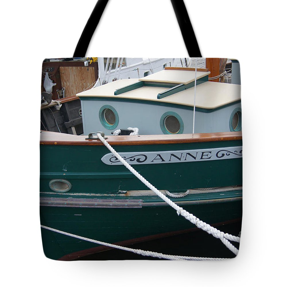 Boat Tote Bag featuring the photograph Tethered by Joe Geraci