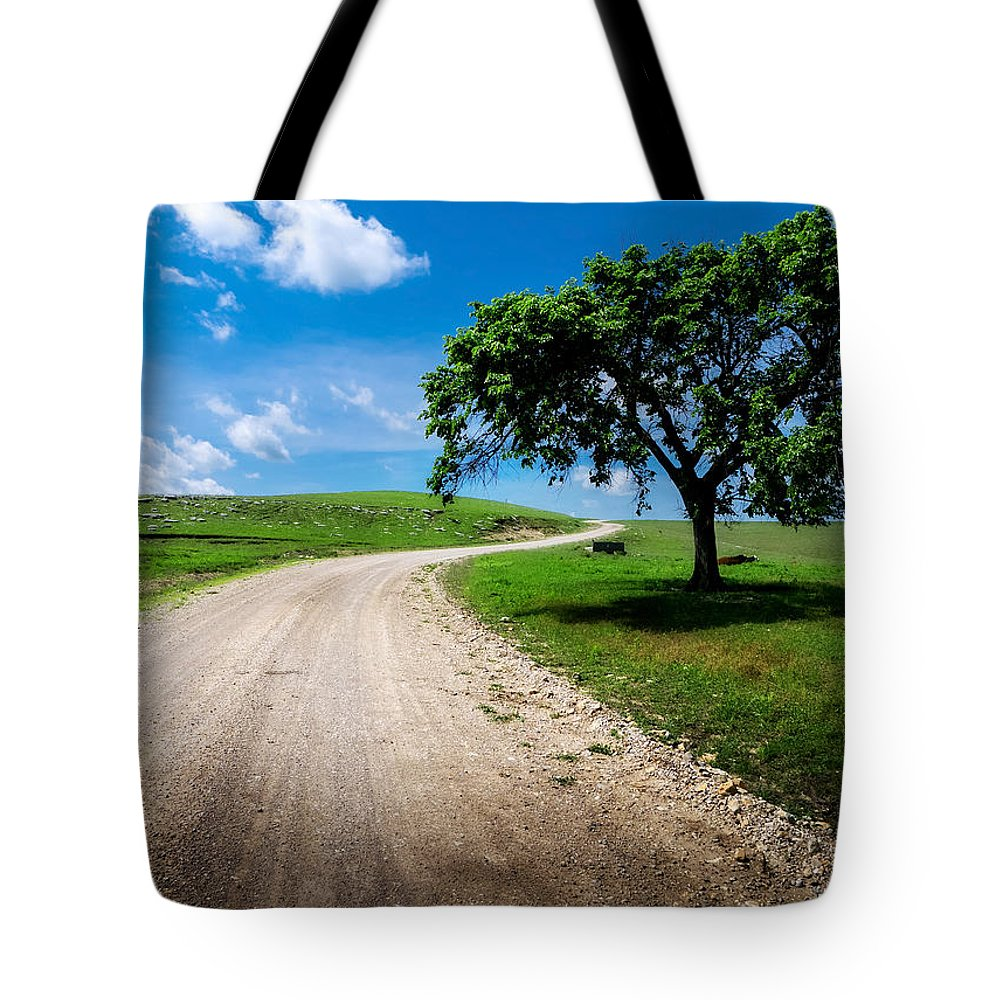 Kansas Tote Bag featuring the photograph Texaco Hill by Eric Benjamin