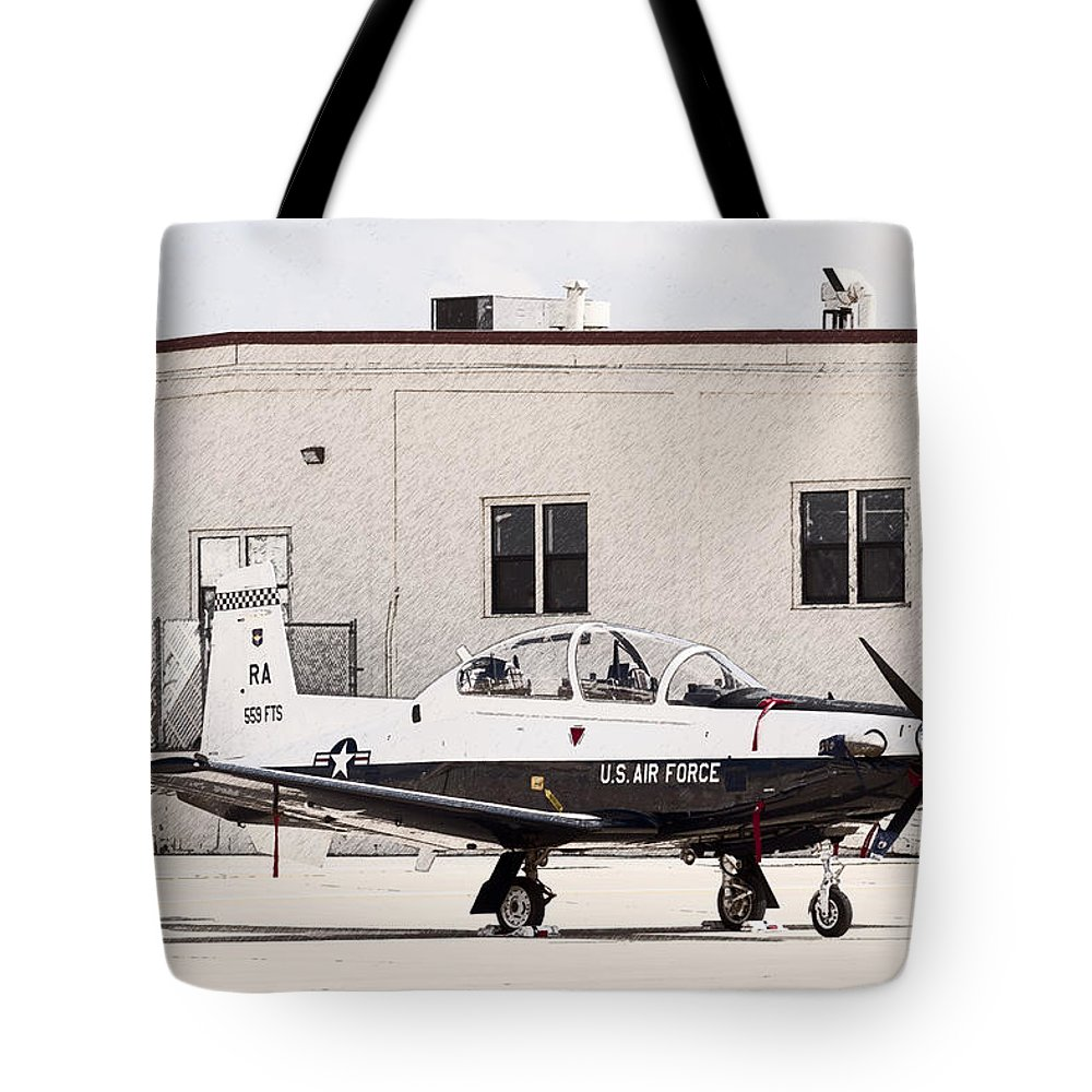 Transportation Tote Bag featuring the photograph Texan Trainer by Melinda Ledsome