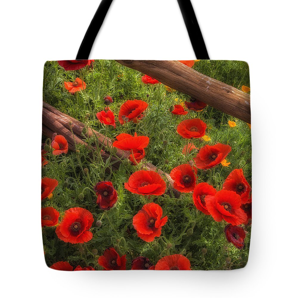 Wildflowers Tote Bag featuring the photograph Texas Hill Country Wildflowers by Priscilla Burgers