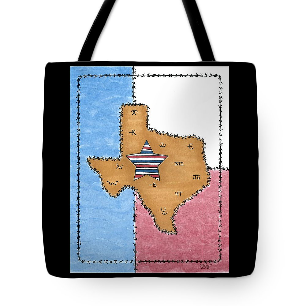 Texas Tote Bag featuring the painting Texas Tried And True Red White And Blue Star by Susie Weber
