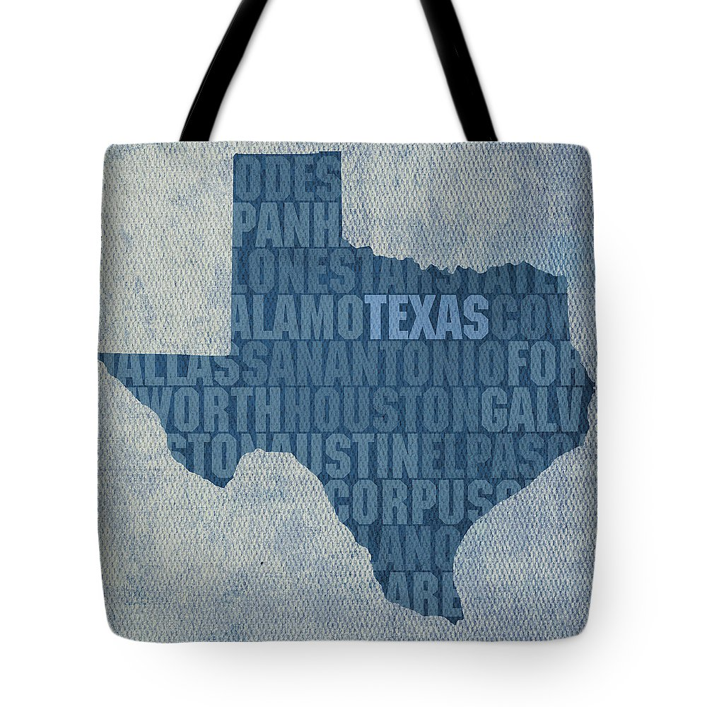 America Mixed Media Tote Bags
