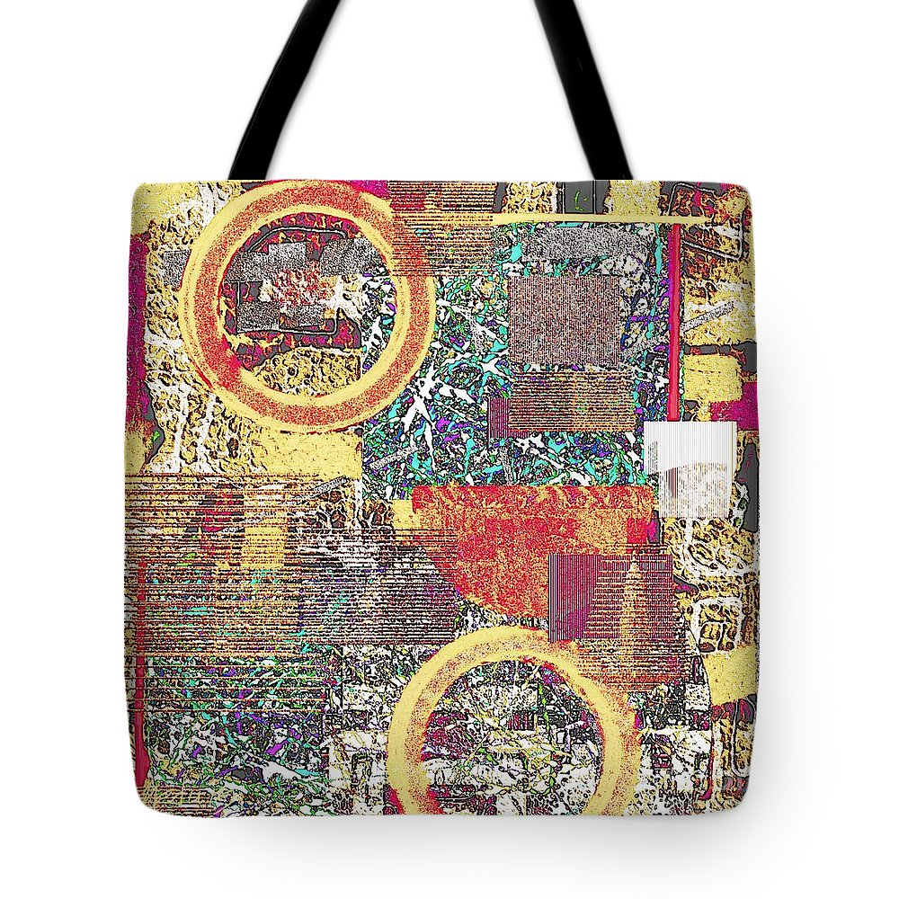 Art Prints Tote Bag featuring the painting Textural 210 by Nedunseralathan R