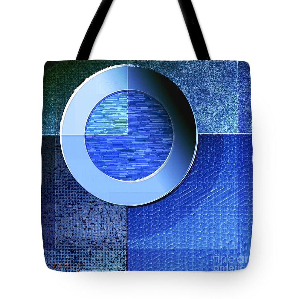 Art Prints Tote Bag featuring the painting Textural In Blue by Nedunseralathan R