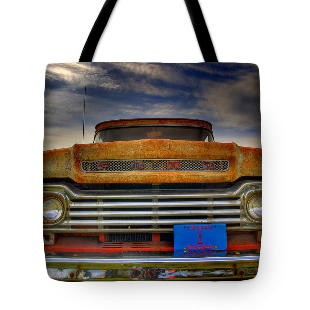 F-100 Ford Truck Tote Bag featuring the photograph Textured Ford Truck 1 by Thomas Young