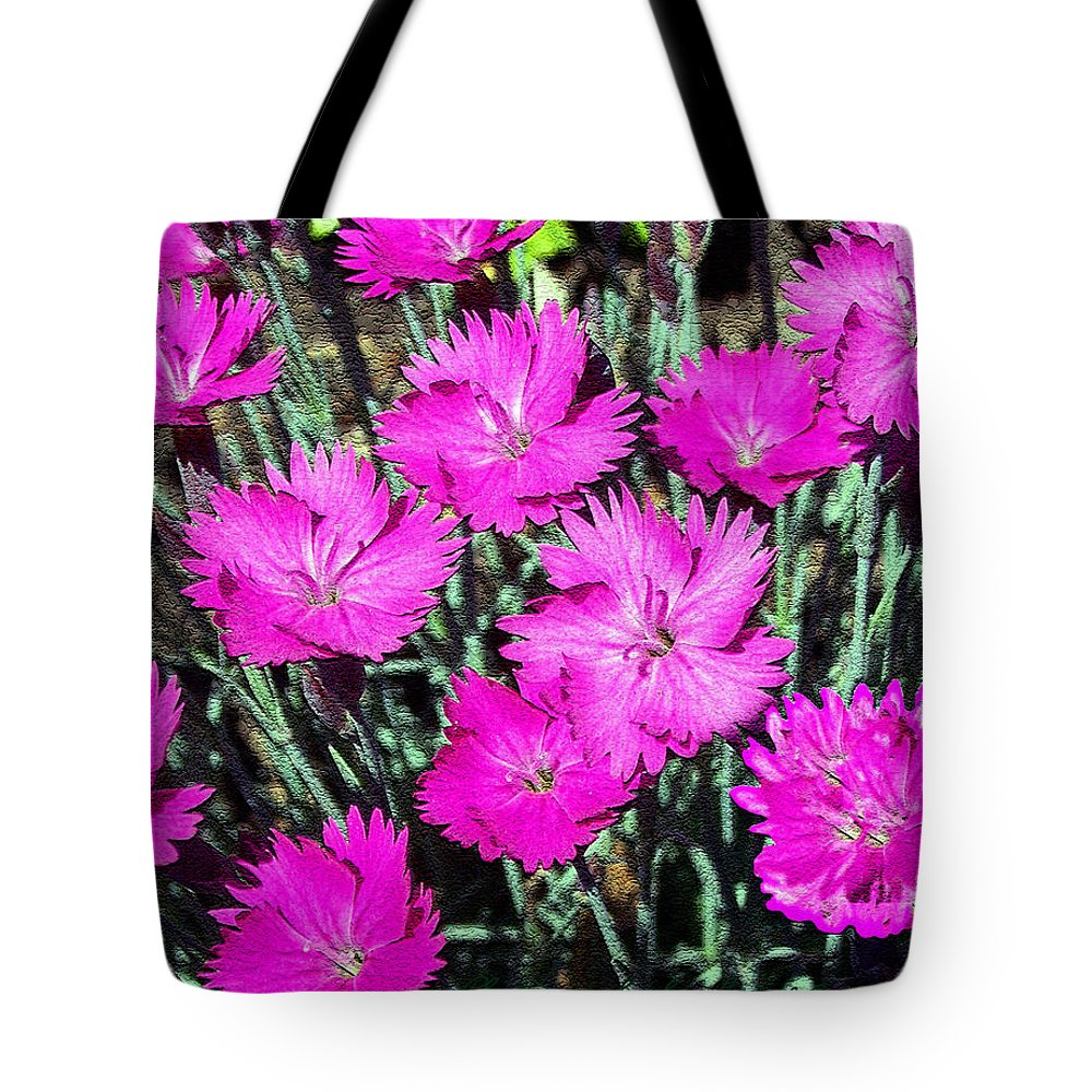 Daisy Tote Bag featuring the photograph Textured Pink Daisies by Gena Weiser