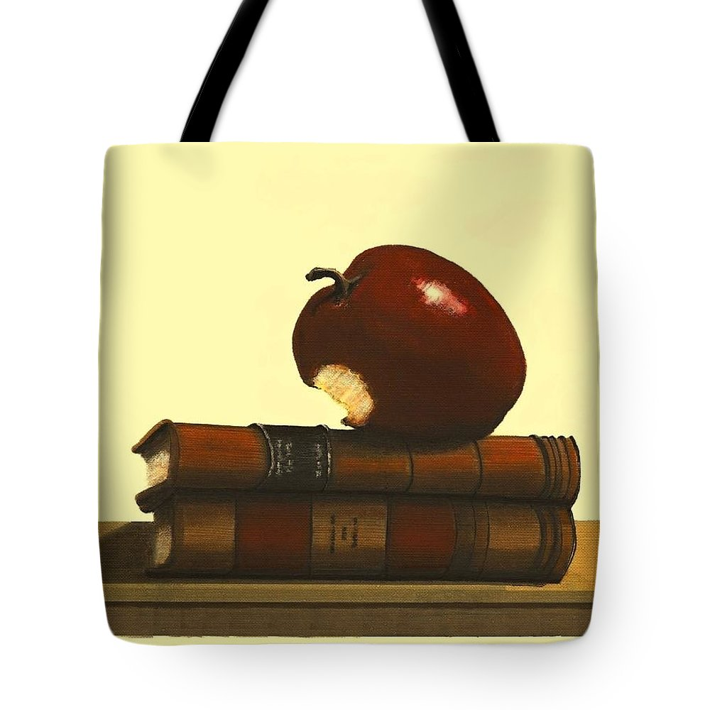 Fineartamerica.com Tote Bag featuring the painting Thank You To A Wonderful Teacher # 4 3 by Diane Strain