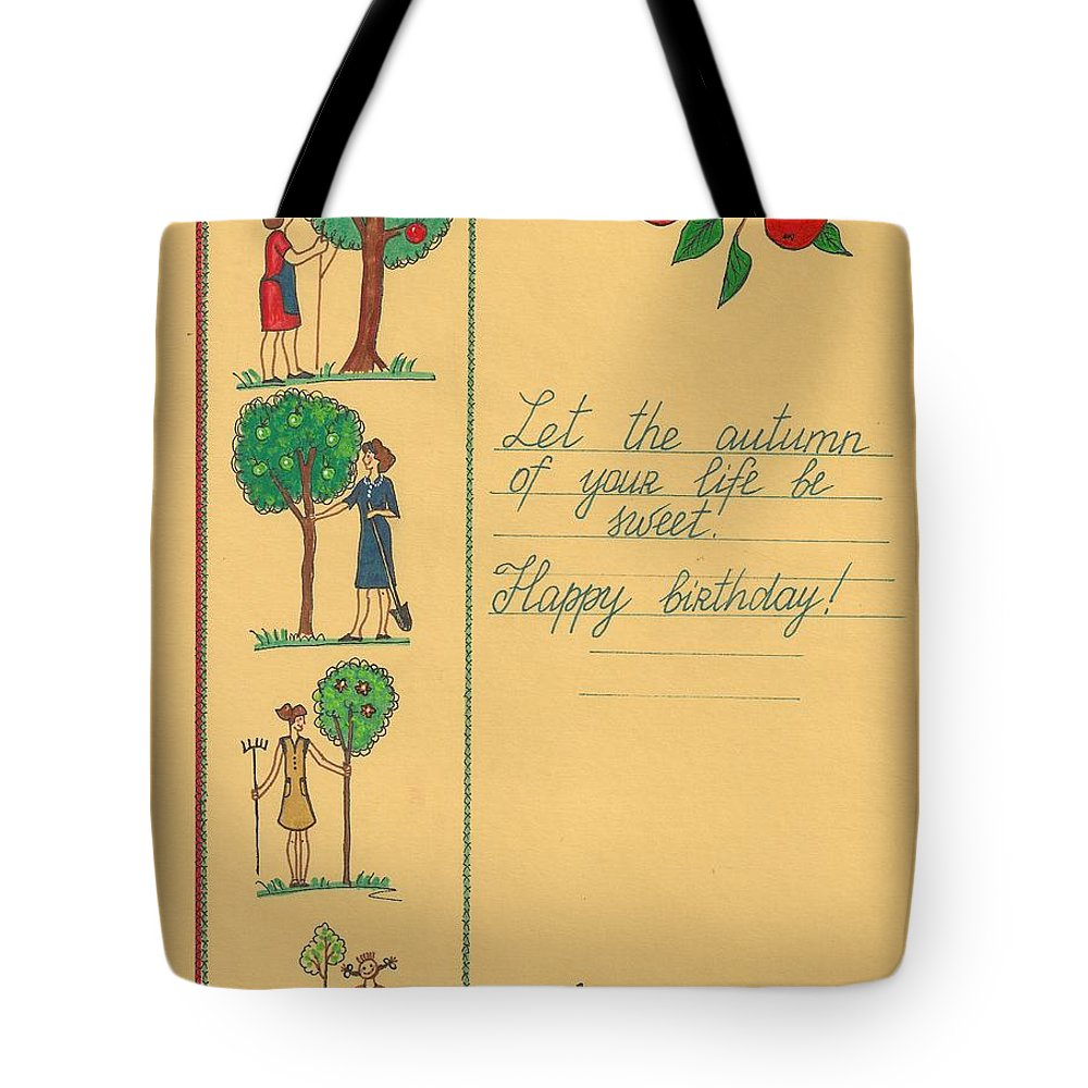 Print Tote Bag featuring the painting Thanks For Everything by Margaryta Yermolayeva