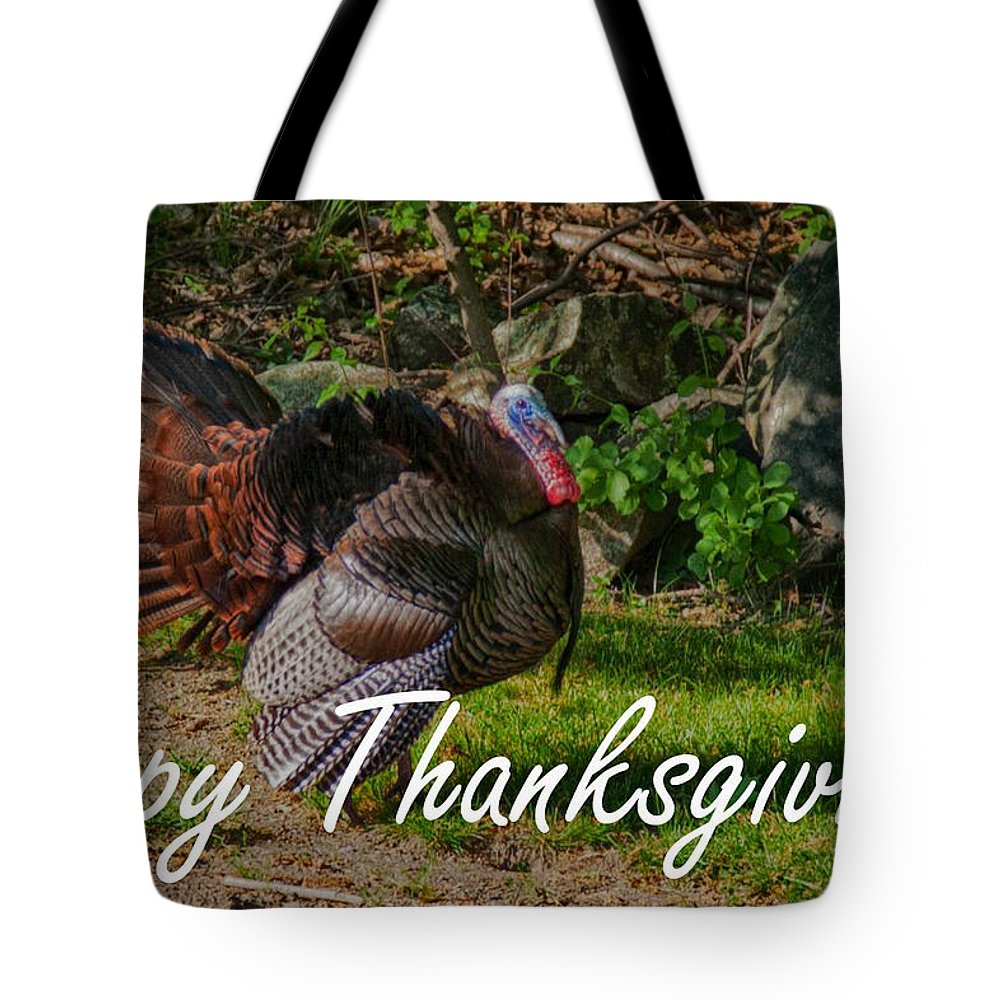 Wild Turkey (meleagris Gallopavo) Tote Bag featuring the photograph Thanksgiving Turkey by Jeff Folger