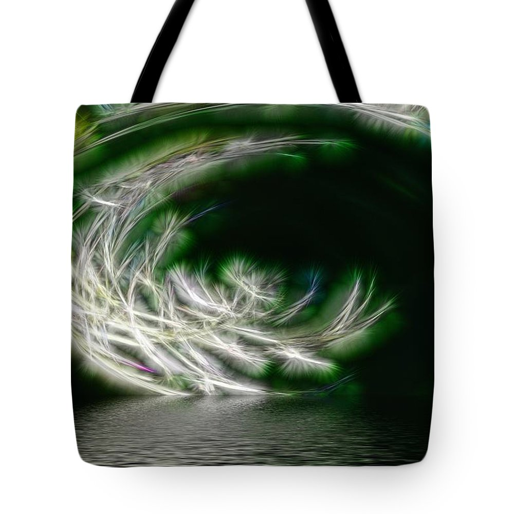 Abstract Tote Bag featuring the photograph That Stooped Down Unto The Sea by Richard Thomas