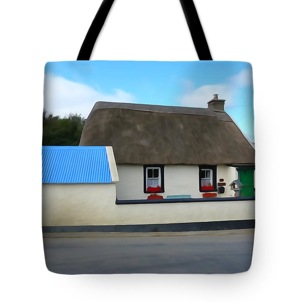 Roof Tote Bag featuring the photograph Thatched by Charlie and Norma Brock