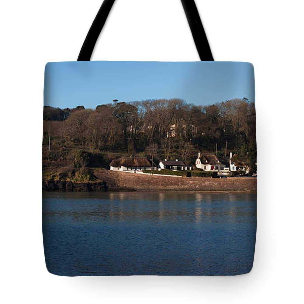 Photography Tote Bag featuring the photograph Thatched Cottages In A Town, Dunmore by Panoramic Images