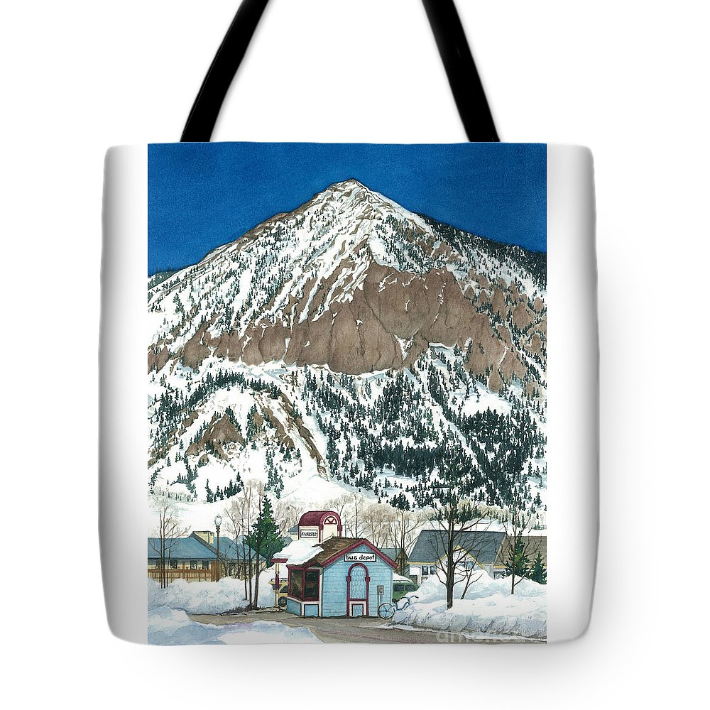 The 4-way Stop Tote Bag featuring the painting The 4-way Stop by Barbara Jewell