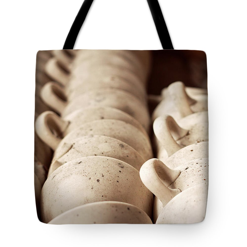 Teacups Tote Bag featuring the photograph The Abandoned Ceramics Factory by Bethany Helzer