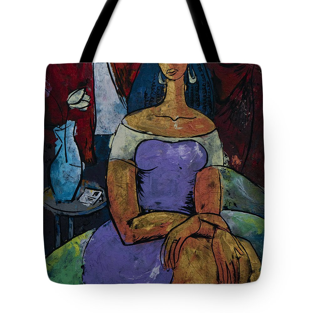 Love Tote Bag featuring the painting The Adios Letter - From The Eternal Whys Series by Elisabeta Hermann