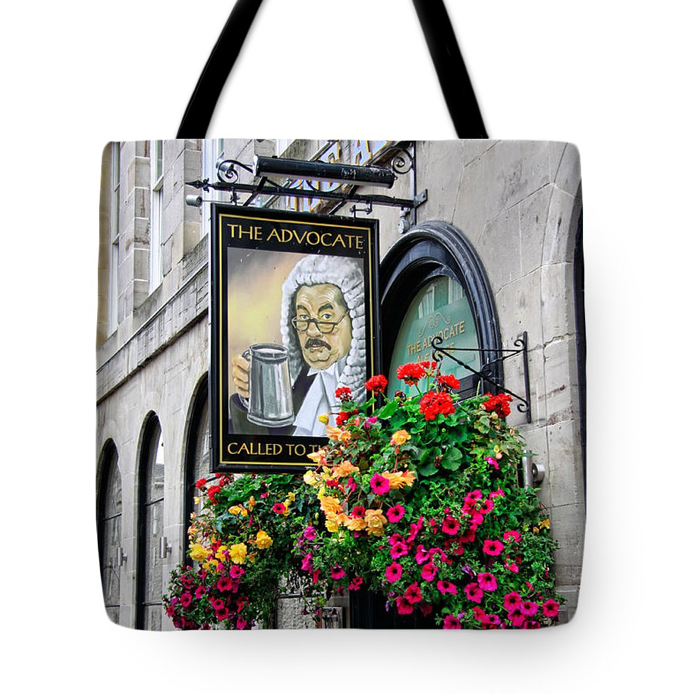 The Advocate Pub Tote Bag featuring the photograph The Advocate Pub by Jim Pruett