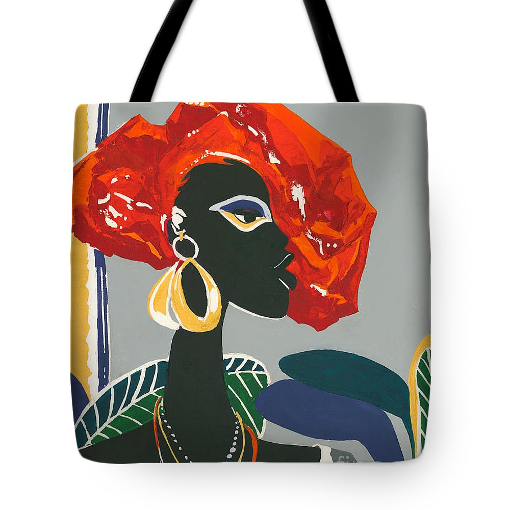 Black Tote Bag featuring the painting The Ambassador by Elisabeta Hermann
