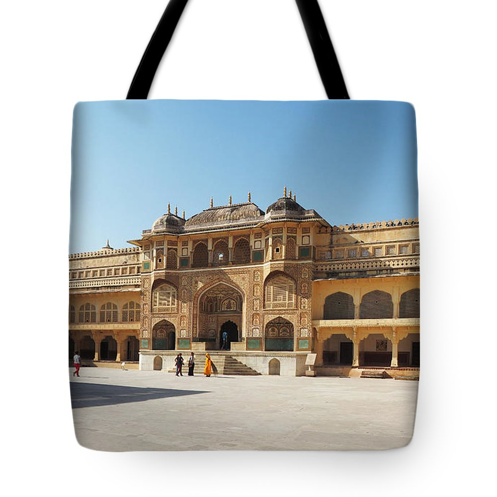Amer Fort Tote Bag featuring the photograph The Amber Fort by C H Apperson