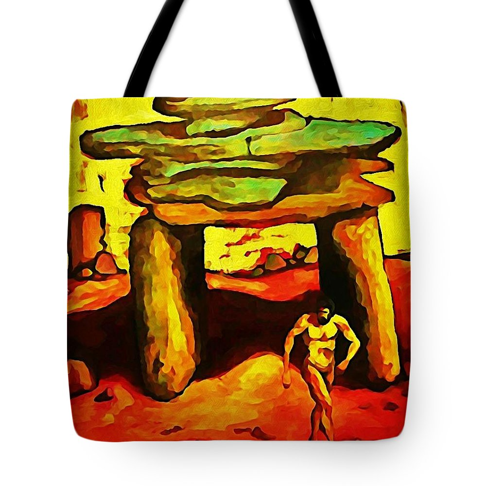 Ancient Tote Bag featuring the digital art The Ancient by John Malone