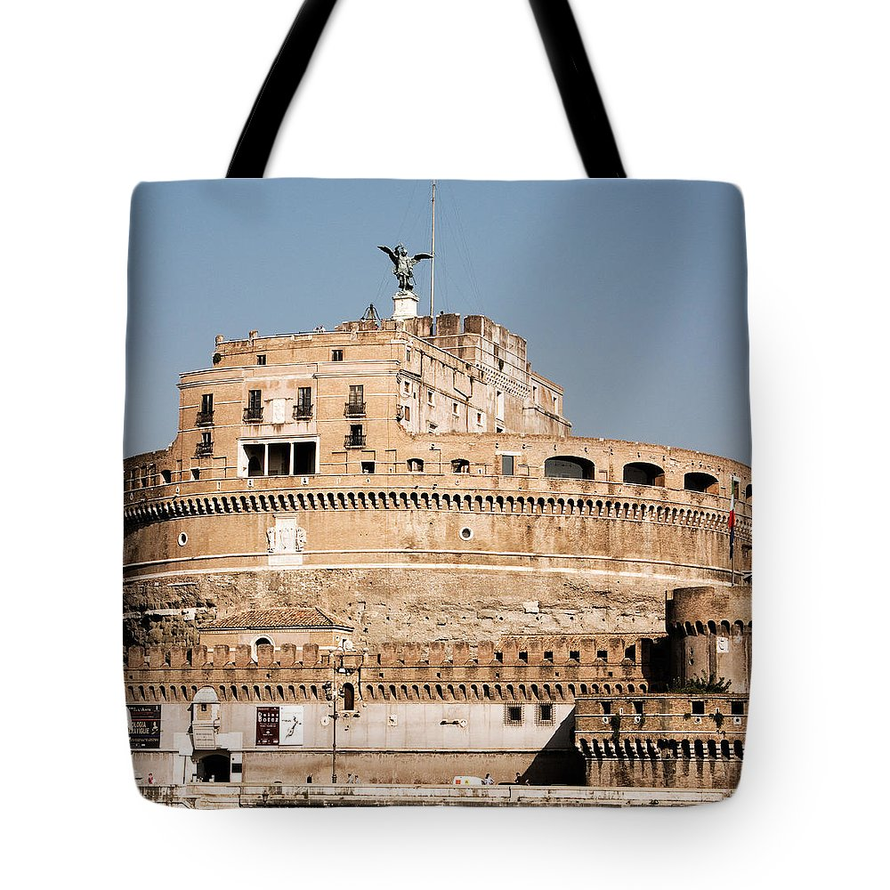 Angel Tote Bag featuring the photograph The Angel In The Fortress by Weston Westmoreland