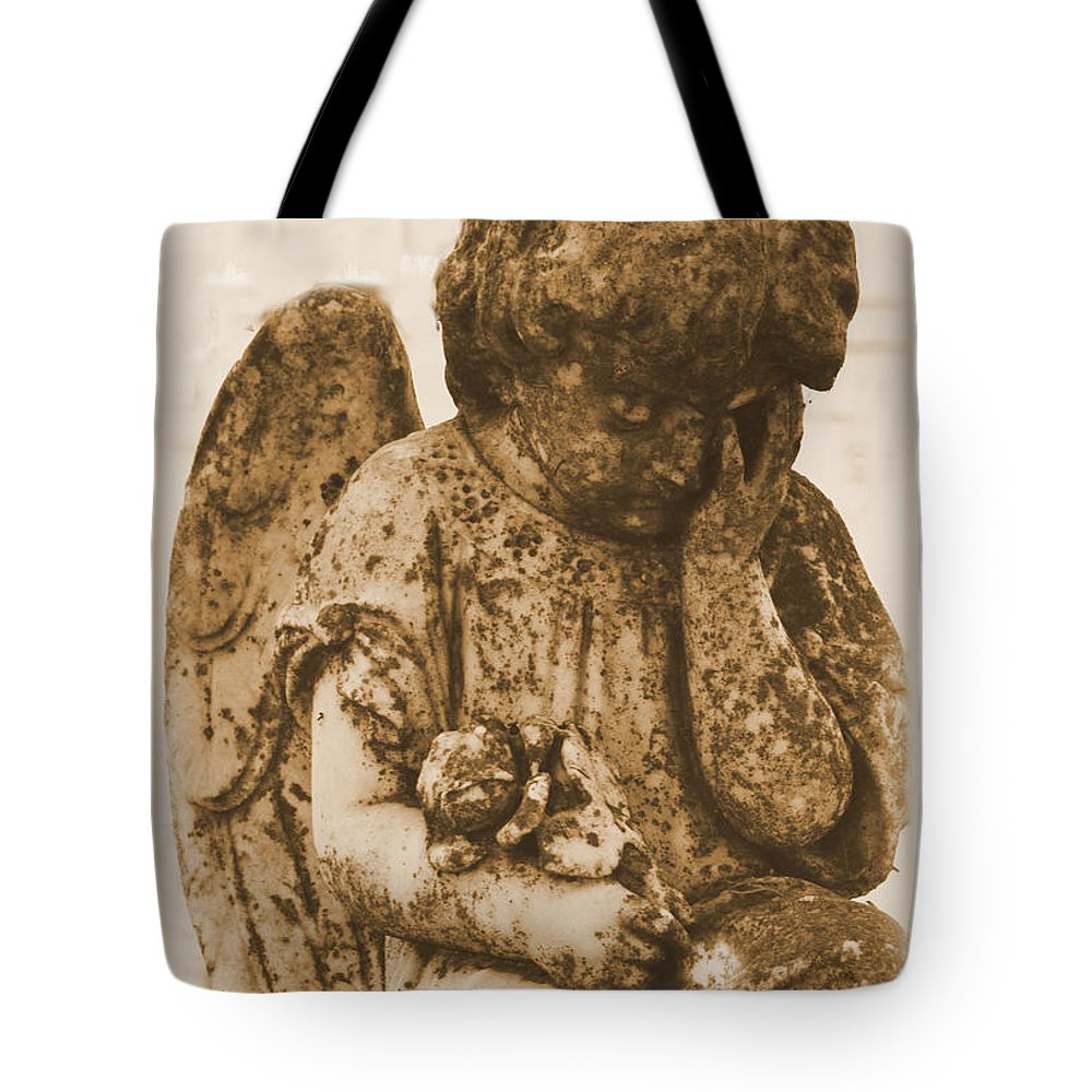 Angel Tote Bag featuring the photograph The Angel Virginia by Nadalyn Larsen