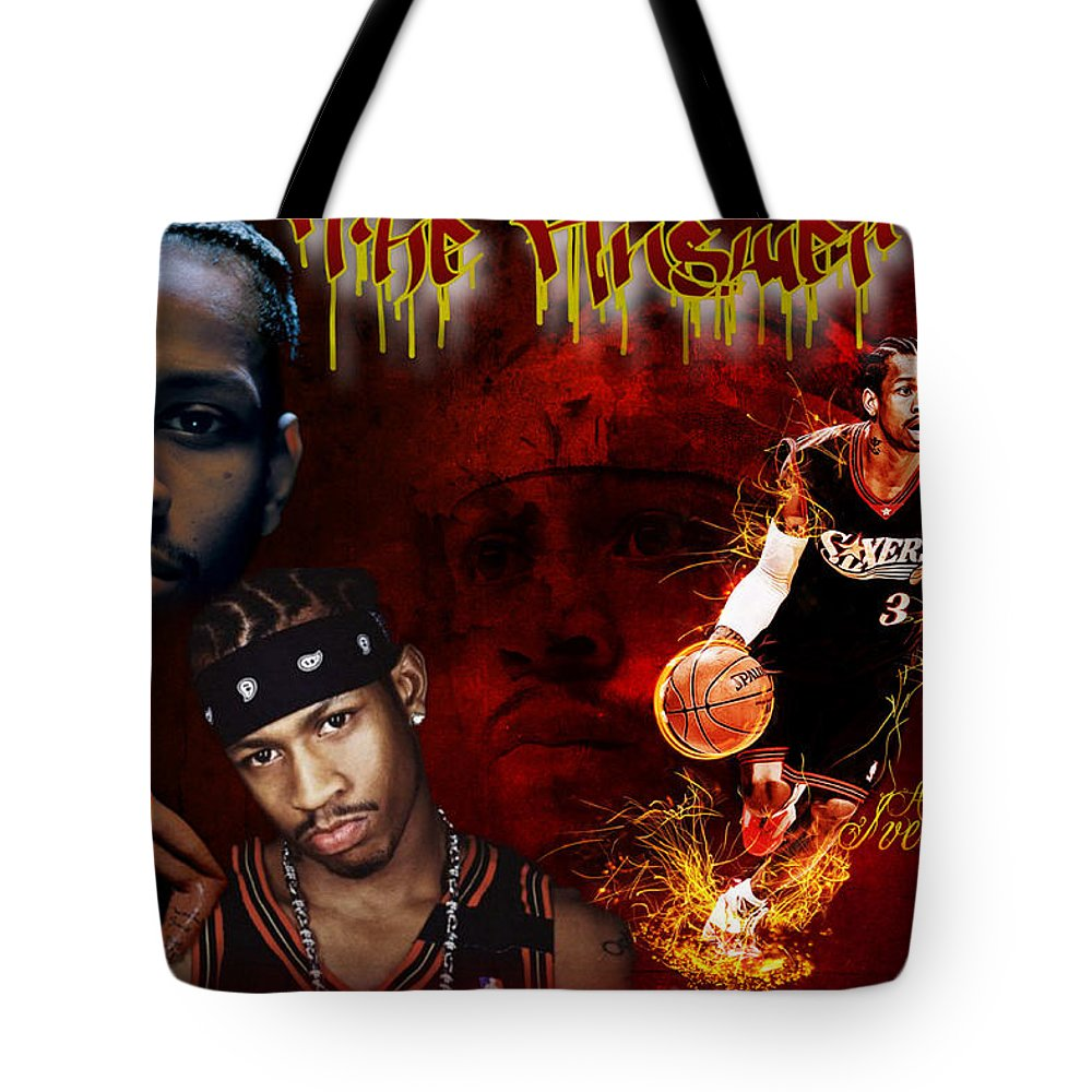 Basketball Tote Bag featuring the digital art The Answer by Edward Cormier Jr