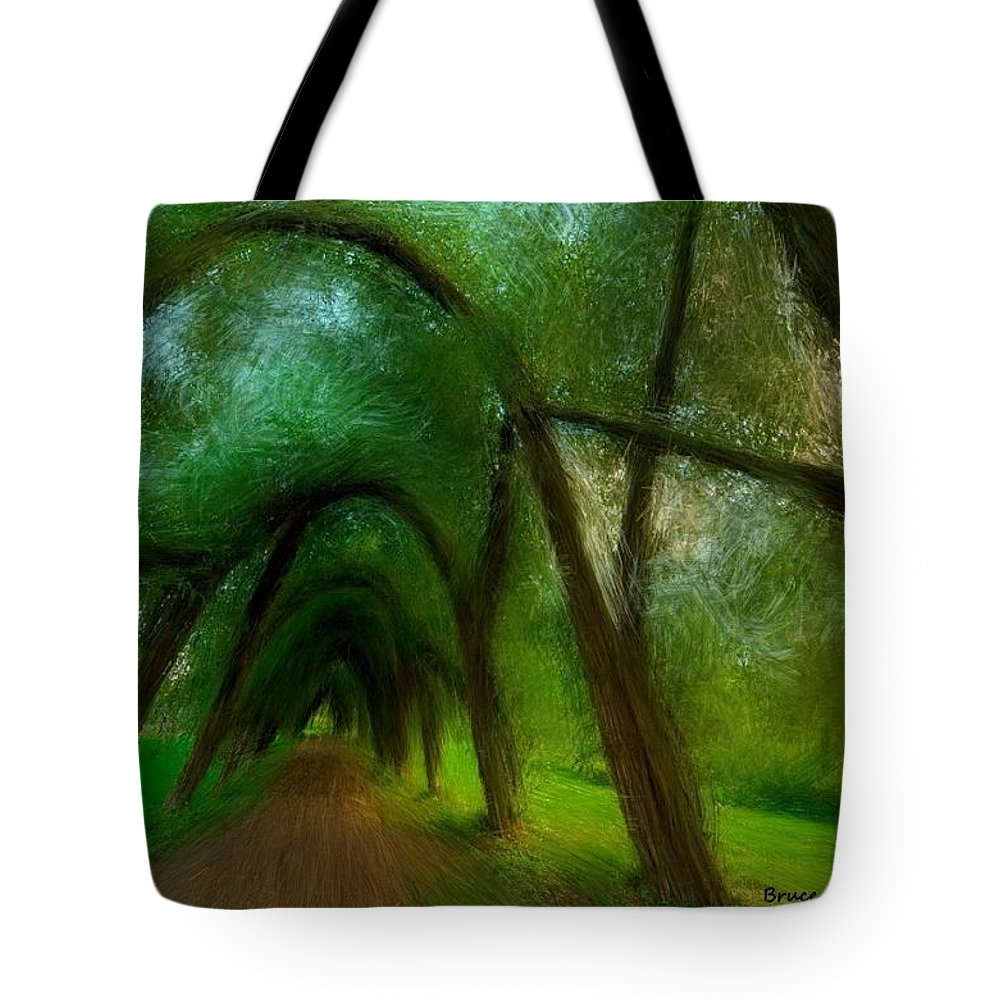 Tree Tote Bag featuring the painting The Arch Of Heaven by Bruce Nutting