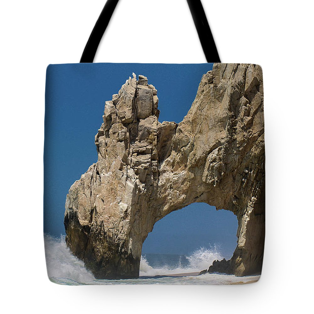 Scenics Tote Bag featuring the photograph The Arch Of Los Cabos San Lucas by Marc Javelly