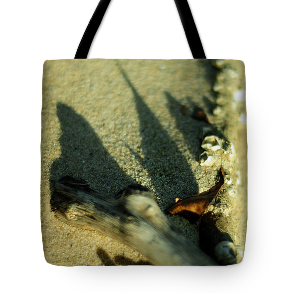Shadow Tote Bag featuring the photograph The Arrival by Rebecca Sherman