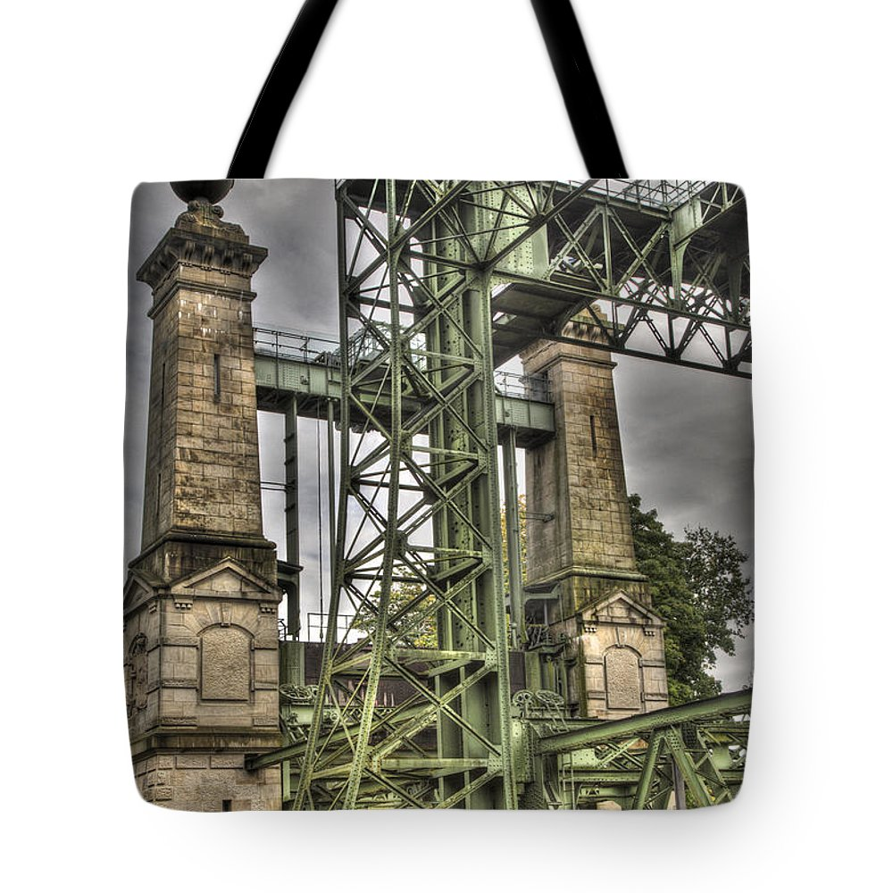 Technical Tote Bag featuring the photograph The Art Nouveau Ships Elevator by Heiko Koehrer-Wagner