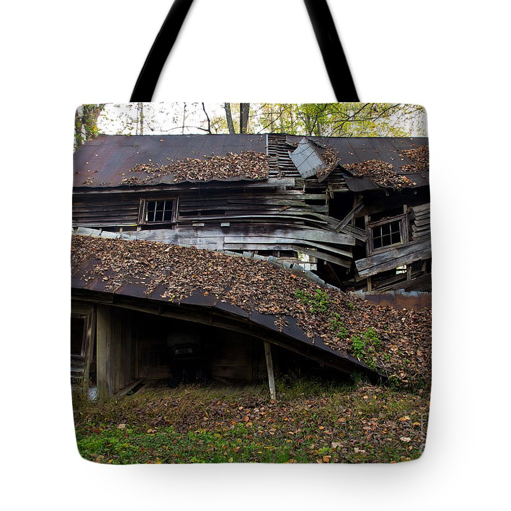 Old Tote Bag featuring the photograph The Art Of Decay by Douglas Stucky