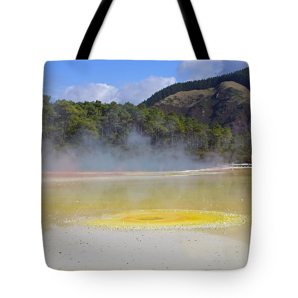 Waiotapu Tote Bag featuring the photograph The Artist's Palette Wai 0 Tapu by Venetia Featherstone-Witty