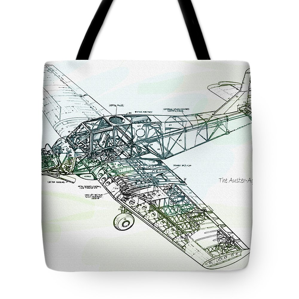 Decorative Tote Bag featuring the digital art The Auster Agricola Detail by Don Kuing