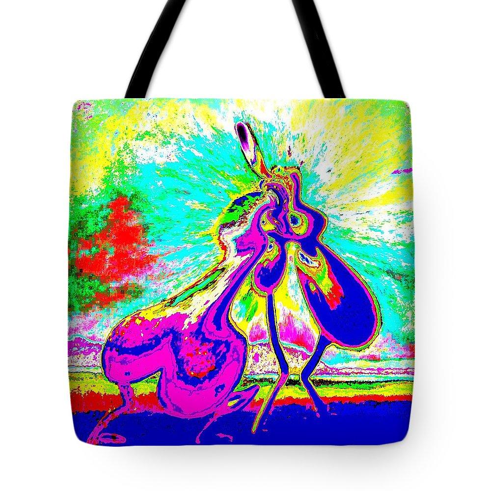 Genio Tote Bag featuring the mixed media The Awakening Of Eros by Genio GgXpress