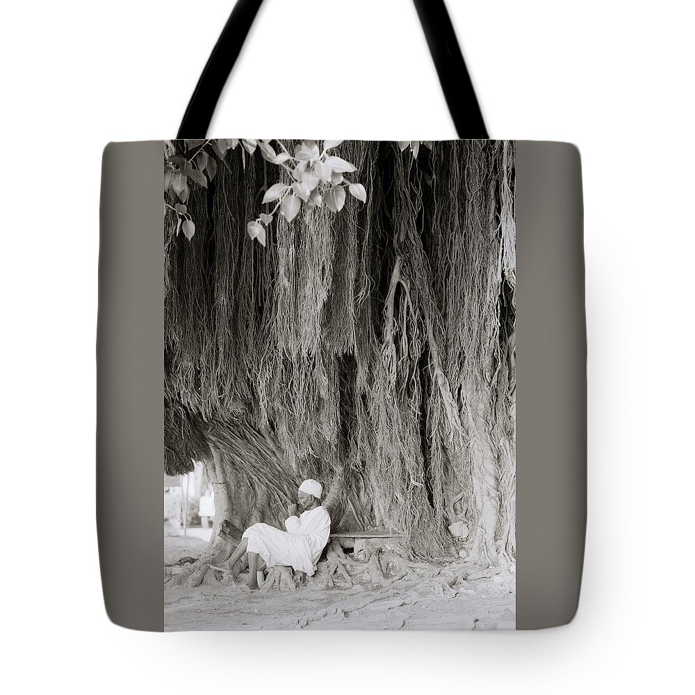 Tree Tote Bag featuring the photograph The Banyan Tree by Shaun Higson