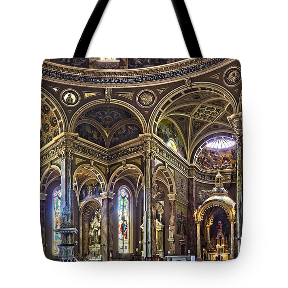 Basilica Tote Bag featuring the photograph The Basilica Of St. Josaphat by Daniel George