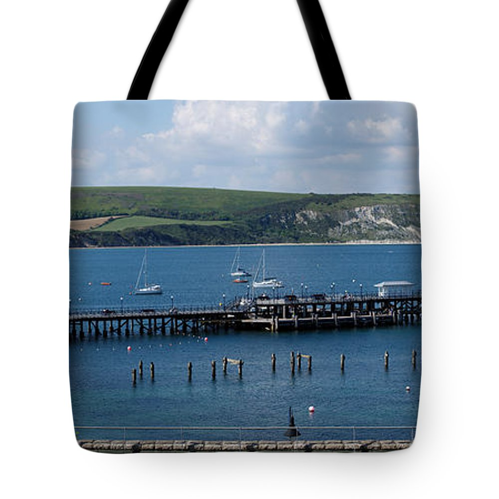 The Bay At Swanage Tote Bag featuring the photograph The Bay At Swanage by Wendy Wilton