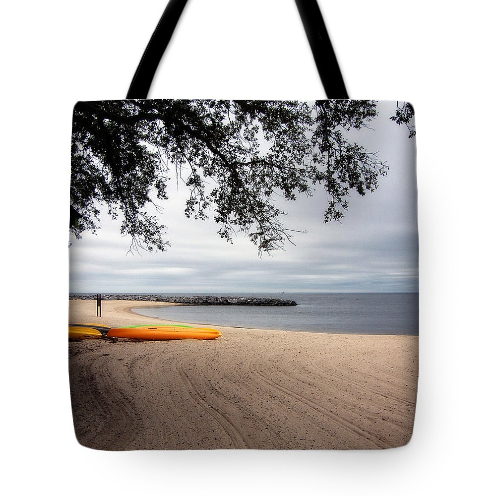 Landscape Tote Bag featuring the photograph The Beach by Earl Johnson