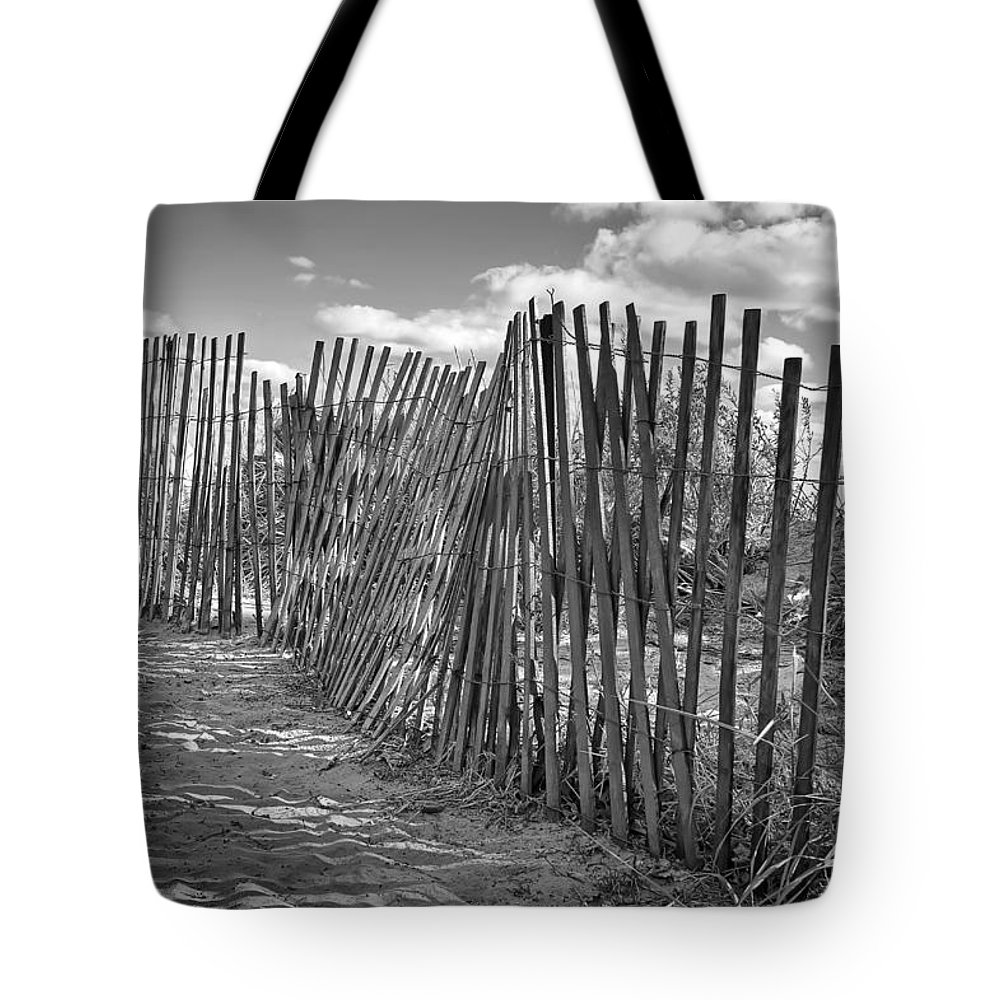 Beach Tote Bag featuring the photograph The Beach Fence by Scott Norris