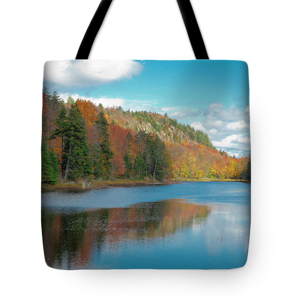 Adirondack's Tote Bag featuring the photograph The Beautiful Bald Mountain Pond by David Patterson