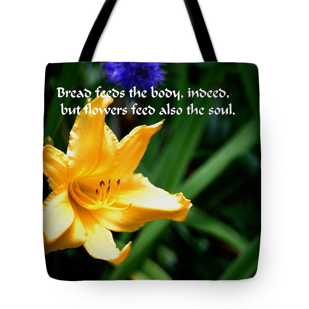 Yellow Tote Bag featuring the photograph The Beauty Of Flowers by Gary Wonning